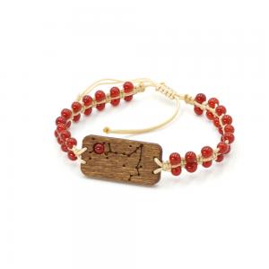 Bransoletka ZODIAC z karneolem – konstelacja gwiezdna dla Pisces – Ryby (Sand) Leśna Pracownia Biżuterii Wronka Tuszyn Las Łódź