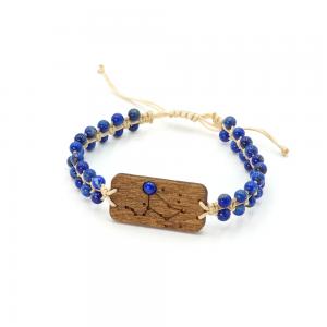 Bransoletka ZODIAC z lapis lazuli – konstelacja gwiezdna dla LEO –Lew (Sand) Leśna Pracownia Bizuterii Wronka Tuszyn Las Łódź