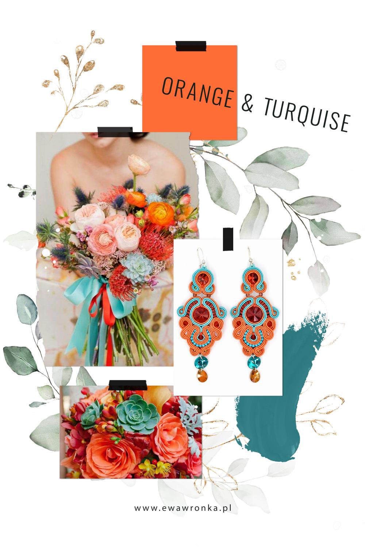 Inspiracja ślubna z Leśnej Pracowni Orange & Turqiuse Eva Sutasz
