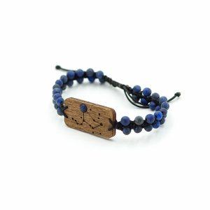 Bransoletka ZODIAC MAN z lapis lazuli – konstelacja gwiezdna dla Leo –Lew (Black) Leśna Pracownia Biżuterii Wronka Tuszyn Las Łódź