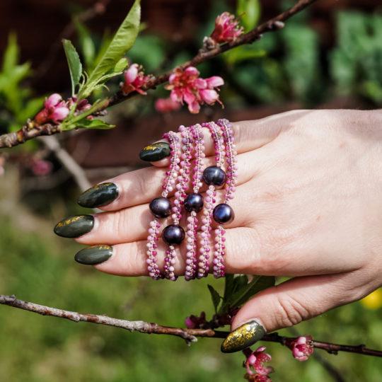 Bransoletka z kamieni naturalnych Siła Kobiecości Leśna Pracownia Biżuterii Ewa Wronka
