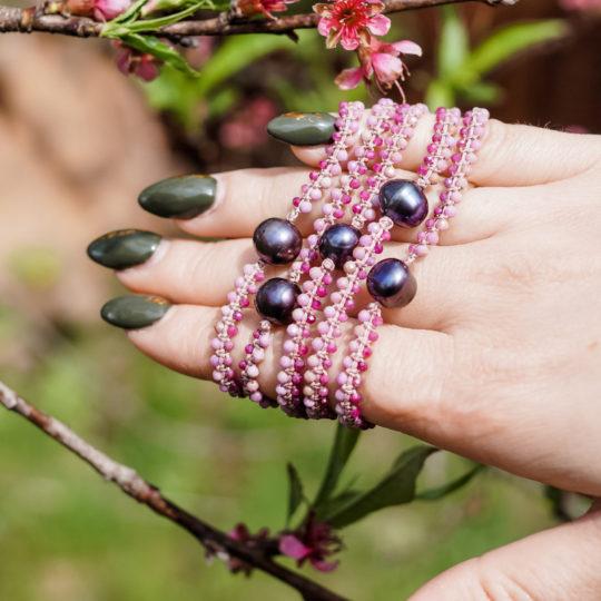 Bransoletki z kamieni naturalnych Siła Kobiecości Leśna Pracownia Ewa Wronka